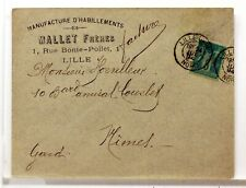 SA207   TYPE SAGE SUR LETTRE ANCIENNE OBLITERATION GARE  GARE  19°SIECLE