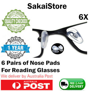 6 Pairs Silicone Anti-Slip Screw in Nose Pads for Eyeglass Sunglasses Glasses