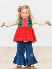 Matilda Jane CAROLING AWAY Top Girls Size 8 Sparkle Red Tulle Make Believe NWT