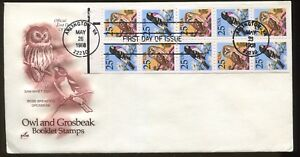1988 Arlington Virginia Saw-Whet Owl & Rose-Breasted Grosbeak First Day Covers