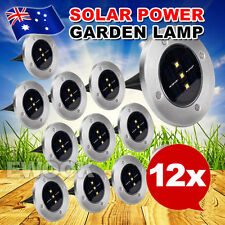 12x Solar Powered LED Buried Inground Light Garden Outdoor Deck Path AU