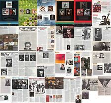 ELVIS COSTELLO : CUTTINGS COLLECTION -adverts- clippings