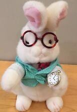"Alice in Wonderland The White Rabbit Plush Stuffed Animal 16"""