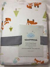 Cloud Island Fox Woodtrails fitted crib sheet nursery bedding cotton new #28444