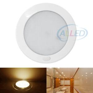 12V 127MM LED Dome Light Caravan Camper RV Roof Ceiling Light Warm White