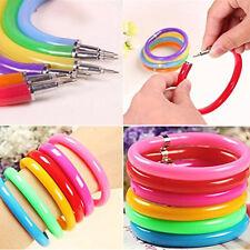 NEW 10pcs Cute Flexible Ball Pen Soft Plastic Bangle Bracelet Writing Pen