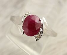 VINTAGE 40'S  14KT W GOLD 9.6 CT ESTATE RUBY MEN'S RING  -SZ(14.5) 3.4 GR -N993