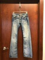 BKE Buckle Womens Stella Boot Cut Blue Jeans 26 x 33.5 Stretch Distressed
