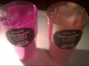 neon 10 Plastic Tumblers  Reusable Party Cup (orange)