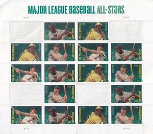 MAJOR LEAGUE BASEBALL ALL STARS 16 FOREVER STAMPS LOT DiMAGGIO STARGELL WILLIAMS