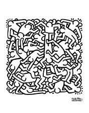 POP ART PRINT - Party of Life Invitation, 1986 by Keith Haring 11x14 Poster