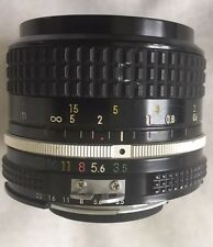 Nikon Nikkor 28mm F3.5 Non AI Manual Focus Prime Lens Engraving