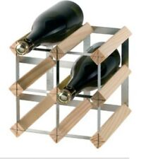 RTA 6 Bottle Wine Rack System Wood and Metal Extendable
