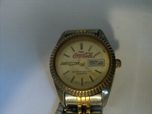 Enjoy Coca Cola ® Coke Women's Watch Weekday and Date Display New Battery