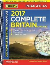 Philip's Complete Road Atlas Britain and Ireland 2017: Spiral binding, New Books