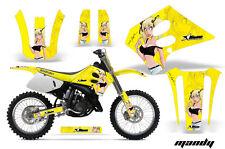Suzuki RM 125  Graphics Kit AMR Racing Bike Decal RM125 Sticker Part 93-95 MANY