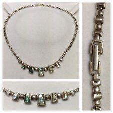 Collier 925 argent avec nacre chaîne en bijoux