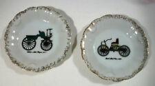 Lot of 2 Antique Ford First Car 1896 1877 Motor Wagon Small Collector Plates Vtg