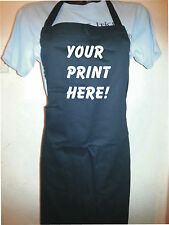 Custom Printed Cotton Apron - Personalised free of charge any colour text/logo