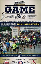 MINI MARATHON ON COVER MILWAUKEE BREWERS 2013 OFFICIAL GAMEDAY PROGRAM ISSUE #24