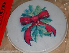 Christmas Holly Berry Bow ROUND STOVE Eye Electric Range Cook TOP BURNER COVERS