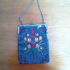 Beaded Vintage Multi Color beaded Evening Bag ,Original 1920's