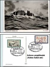 Dt. Schiffspost Schiff FRISIA Küstenfahrten HELGOLAND Ship Cancelation