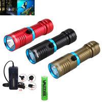 Unterwasser 100m 10000LM XM-L2 / T6 LED Tauchen Taschenlampe Wasserdichte18650