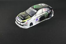 1/10 RC coche 190mm Carrocería Monster Energy deriva Subra Impreza WRX STI 10th Gen