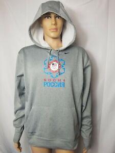 Rare Gray Sochi Nike Hoodie Team USA Olympics US Olympic Team Therma Fit Medium