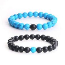 2pcs Distance Bracelets Energy Healing Stone Beads Bracelet Couple Jewelry 05