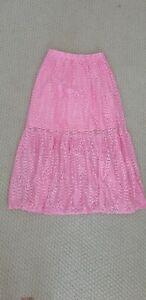 Kookai pink lace midi skirt size 34 (6)