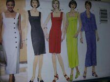 Butterick Pattern 6142 Misses' Side Button Down Summer Dress SZ 14-16-18