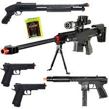 NEW Lot of 5 Airsoft Guns Sniper Rifle Shotgun Spring Pistols & 1,000 6mm BBs