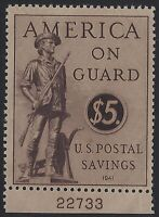 US Stamps - Scott # PS15 - $5 Postal Savings - Mint Very Lightly Hinged  (Q-063)
