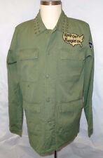 Kill City Patched Olive Green Army Jacket Coat Size M/Medium Large S/O $95 NWT