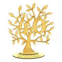 Jubiläums Baum zum 40 Geburtstag Personalisiert 28 cm,Geschenk, Lebensbaum