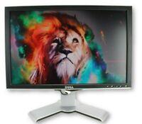 "Dell 2007WFP 20"" LCD Monitor USB Hub VGA DVI RCA S-Video 1680x1050 - Grade B"