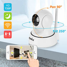 SANNCE WiFi Wireless 720P IP Camera Mini Home Security Network CCTV Night Vision