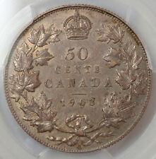 CANADA 50 CENTS 1903-H PCGS AU53