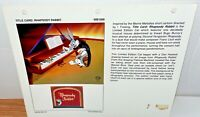 Rare Warner Bros Rhapsody Rabbit Laminated Cel Promo Binder Page