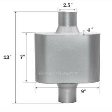 4x9 Race Muffler 25 Inlet Outlet Center Body Length 7 Body Diameter
