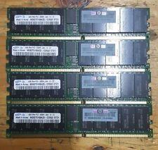 16GB Server Ram (4x4GB) Lot of 4 4GB Server Ram PC2-4200R DDR2-533MHz DIMM 2Rx4
