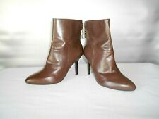 Women's Mark Fisher Sugar Brown Leather Fashion Ankle Boots Size 7 B