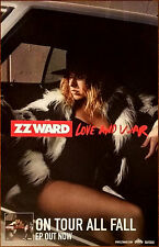ZZ WARD Love And War Ltd Ed Discontinued RARE +FREE Pop Rock Poster! The Storm
