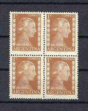Argentina 1952 Sc# 599 Eva Peron block 4 MNH
