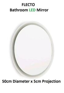 Bathroom LED Mirror 8W - 4000k Daylight White Round Bathroom IP44 ***FREEPOST***