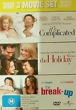 IT'S COMPLICATED + THE HOLIDAY + THE BREAK UP - BRAND NEW & SEALED 3-DISC R4 DVD