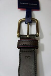 Tommy Hilfiger Belt Sz 32 Brown Solid Manmade Material Handcrafted 11L02TX0