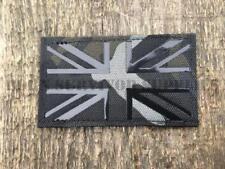 LASER CUT UNION JACK PATCH BLACK Multicam BTP UKFlag Tactical Morale Badge MOLLE